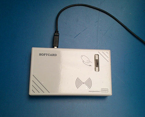 SOFTCARD15 - S.O. Windows - Caricatore/Programmatore USB - COD. 30900000